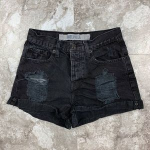 Brandy Melville High Waisted Black Shorts Size 0